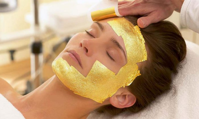 ماسک ورقه طلا واقعی ایتالیایی