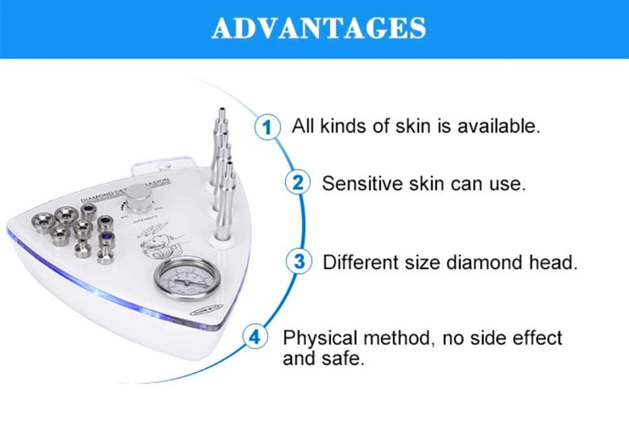 دستگاه میکرودرم الماسه مثلثی دایموند 3 کاره با اسپری مواد